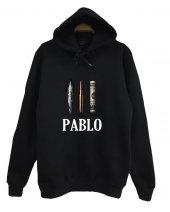 Pablo Escobar Baskılı Kapüşonlu Sweatshirt