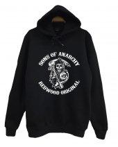 Sons Of Anarchy Baskılı Kapüşonlu Sweatshirt
