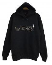 Vikings Baskılı Kapüşonlu Sweatshirt