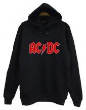 Acdc Baskılı Kapüşonlu Sweatshirt