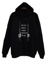 Nf Baskılı Kapüşonlu Sweatshirt