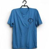 Kulaklık Kalp Ritim Müzik Baskılı T Shirt