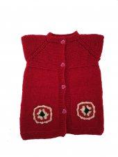 El Yapımı Pamuklu Kırmızı Çocuk Ve Bebek Yelek...