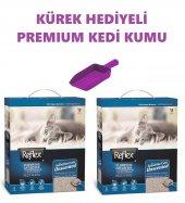 Reflex Hassas Kediler İçin Parfümsüz Topaklanan İnce Taneli Kedi Kumu 6lt X 2 + Kürek Hediyeli