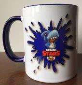 Brawl Stars Splash Shark Lacivert Kulplu Kupa Bardak