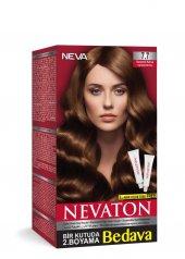 Nevaton Kalıcı Krem Saç Boyası 7.7 Karamel Kahve