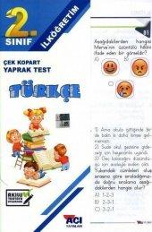 Açı 2.sınıf Türkçe Yaprak Test