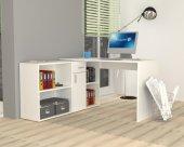 Dmodül Alis Çalışma Masası 210 Cm Beyaz