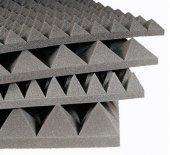 Akustik Piramit Sünger 60 Dns Yanmaz 40mm 100x100