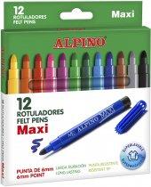 Alpıno 12 Renk Maxı Keçeli Kalem Ar 06