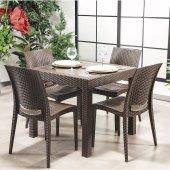 Rattan Masa Sandalye Takımı Mutfak, Bahçe