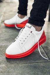 2020 Özel Tasarım Ortopedik Erkek Beyaz Kırmızı Spor Ayakkabı