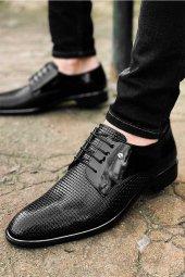 Tamboga571 Tamboga 571 Full Kareli Bağçılı Rugan Klasik Erkek Ayakkabı
