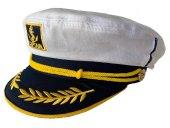 Felice Butik 1720  Beyaz Denizci Kaptan Şapka