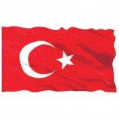 Türk Bayrağı 1.sınıf Parlak Raşhel Kumaş 6x9...