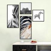Zebra 4lü Ahşap