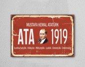 Mustafa Kemal Atatürk Ahşap Poster Mdf Tablo