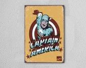 Captain America Ahşap Poster Mdf Tablo