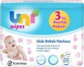 Uni Baby Wipes Islak Mendil 56lı Havlu Kapaklı 3 Lü (56x 3)
