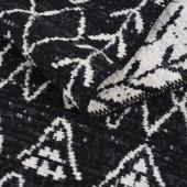 Caretta Home 160x230 Siyah Beyaz Ponponlu Mistik Dokuma Kilim-5