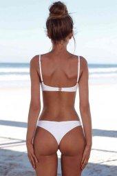 Angelsin Beyaz Şık Bikini Takım-4