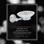 Maya Fantasia Desenli Chrome Montajlı Sabunluk Porselen 100 Pirinç-2