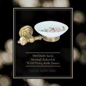 Maya Fantasia Desenli Antique Montajlı Sabunluk 100 Pirinç-2