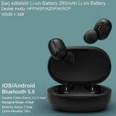 Samsung Galaxy S3, S4, S5 Uyumlu Ultra Kaliteli Şarj Üniteli Kulakiçi Bluetooth Kulaklık-2