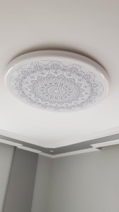 Desenli motif Hazır Gergi Tavan Dekorasyon & Aydınlatma Modelleri LED