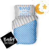 Helen George Cute Mavi Puantiyeli Bebek Nevresim Takımı