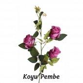 Yapay Çiçek Uzun Dal 3lü Gül 95 cm 5 Renk-5