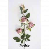 Yapay Çiçek Uzun Dal 3lü Gül 95 cm 5 Renk-6
