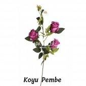 Yapay Çiçek Uzun Dal 3lü Gül 95 cm 5 Renk-10