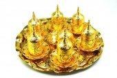 Pologift Döküm Dekoratif Gold Altı Kişilik...