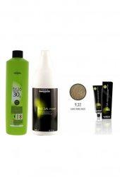 Loreal Inoa Krem Oksidan 30 Vol. 9 1000 ml+Post Boyalı Saç Şampuanı 1500 ml+Saç Boyası 9,32