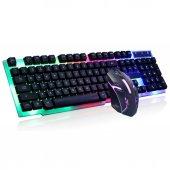 Pg8017 Led Işıklı Gaming Klavye Ve Mouse Seti...