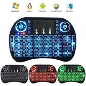 � Işıklı Mini Klavye Mouse Smart Tv Box Pc Şarjlı Pg 8035