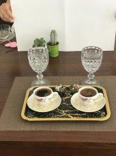 Spec Gold Siyah Kenar Kahve Tepsisi