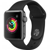 Apple Watch Series 3 Gps 42mm Uzay Gri Alüminyum Gri Spor Kordon Akıllı Saat