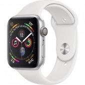 Apple Watch S4 Gps, 40mm Silver Aluminium With White Mu642tu A Mu672tu A