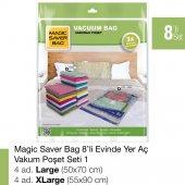 Magıc Saver Bag 8 Li Evinde Yer Aç Vakumlu Poşet Seti 1