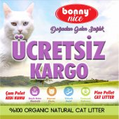 Bonny Nice Organik Çam Pelet Kedi Kumu 10 kg 17 l x 2 Paket 34 l-5