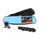 Olix 3 Kameralı Hd Ayna Tipi Dokunmatik Araç Kamerası