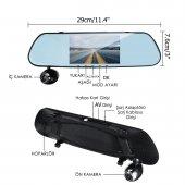 Olix 3 Kameralı HD Ayna Tipi Dokunmatik Araç Kamerası-2