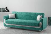 Kardelen Modern Kanepe Su Yeşili (Sandıklı Ve Yataklı)