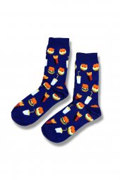 Fast Food Desenli Unısex Çorap