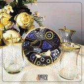 Decostyle 12 Parça Paşabahçe Altın Yaldız Çay Seti De12020