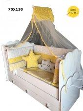 Lüks Bebek Uyku Seti 70x130 Kenar Korumalı 13 Parçadan Oluşmakta