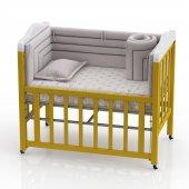 Saraylı (60 120) Mdf Anne Yanı Beşik Sabit 2 Renk Seçenekli