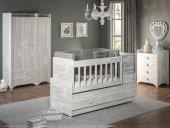 Büyüyen Bebek Odası Takımı Antik Beyaz
